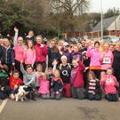 Runners and walkers who took part in the Hollyfort 10k run and walk in aid of the upkeep of the village.