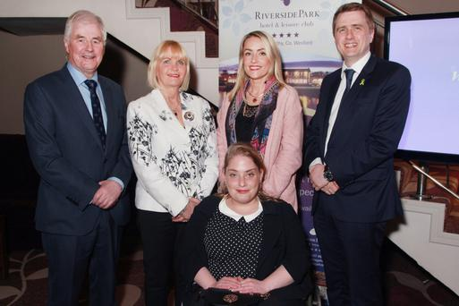 John Browne pictured with his wife Judie, daughters Judie, Catriona and son James Browne TD