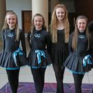 Anna Jeffares, Katie O'Connor, Ciara Furlong, Ella Grant, Michelle Cullen and Annie Kelly from the Sullivan Dance Academy in Murrintown