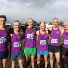Masters athletes Pádraig Moriarty, David Kehoe, Jim Stafford (Over-55 champion), Ger Maloney, Dave Barron and Pat O'Callaghan.