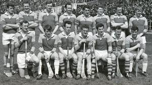 The Wexford Senior hurling team, winners of the National League title on May 28, 1967. Back (from left): Pat Nolan, Tony Doran, Dan Quigley, Tom Neville, Ned Colfer, Joe Murphy, Phil Wilson, Willie Murphy. Front (from left): Fergie Duff, Vincent Staples, Dick Shannon, Paul Lynch, Jimmy O'Brien (capt.), Seamus 'Shanks' Whelan, Michael Collins. Photos: PJ Browne