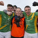 Eoin Porter, Barry Murphy (selector) and Pádraig McGrath after the Leinster final victory in Navan