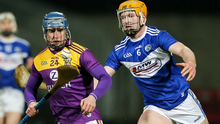 Seamus Casey, seen here in action against Laois, has damaged ankle ligaments and is likely to miss tomorrow's (Wednesday) Fitzgibbon Cup final with I.T. Carlow as well as being unavailable for consideration for the Kilkenny game on Sunday