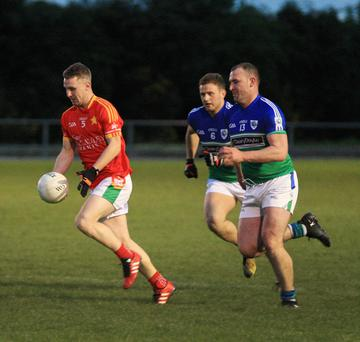 Rory O'Connor (Starlights) is chased by John Leacy and Craig Doyle