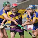 Shelley Kehoe is outnumbered by Tipperary duo Caoimhe Maher and Clodagh Quirke
