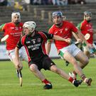 Tommy Storey is outnumbered by Rapparees trio Anthony Roche, Richie Farrell and Kevin Foley