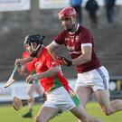 Mossy Mahon of Rapparees in action against Daithi Waters of St Martin's during the SHC clash at Innovate Wexford Park
