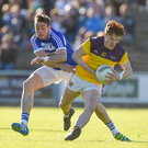James Stafford shakes off Kieran Lillis, whose extra-time goal left no way back for Wexford