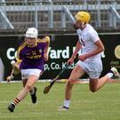 Full-forward Zac Firman posing problems for the Kildare defence during Saturday's quarter-final in Newbridge