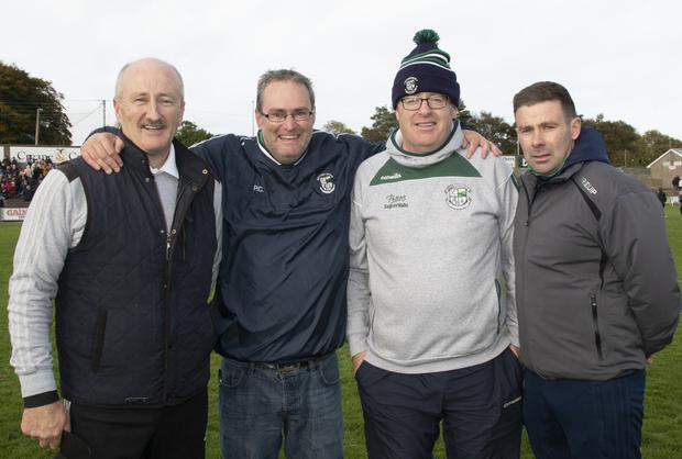 Naomh Eanna mentors Pat Doyle, Paudge Cronin, Louis Cullen and Willie Cleary after their semi-final success