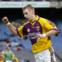 Matty Forde celebrating one of the nine points he scored from play against Meath in Croke Park in 2006