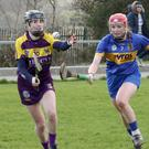 Mag Byrne of Wexford in action against Tipperary's Aoife McGrath