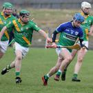 Pádraic Wafer of Glynn-Barntown is pursued by Buffers Alley's Colm Og Doran