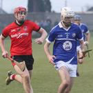 Ciarán Hourihane of Oylegate-Glenbrien beats Kevin Sheridan to the ball