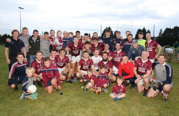 Castletown celebrate after collecting the All-County Football League Division 1 crown for the fourth year in succession