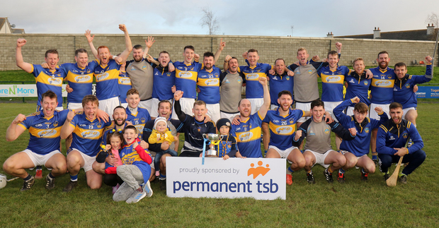 The title-winning St. Mary's (Rosslare) squad with the spoils of success