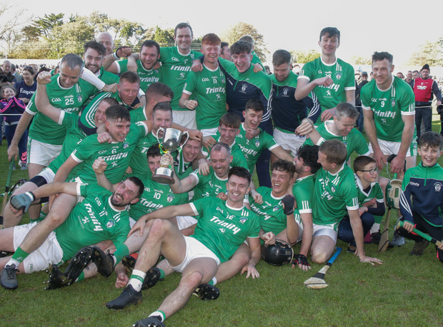 The title-winning Cloughbawn crew who returned to the top flight after an interval of two years