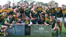 HWH-Bunclody celebrate after collecting the Intermediate football championship title for the first time since 1976