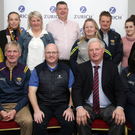Colin Blake of Zurich Insurance with the officers of Wexford County Board at Convention. Back (from left): Joanne Stafford, Louise Weekes, Nicola Sinnott, Ian Plunkett, Ann Doyle, Tony Cardiff, Bríd Kehoe, Yvonne Flynn. Front (from left): Billy Stafford, Colin Blake (Zurich), Denis Nolan (Chairman), Fiona Hayes
