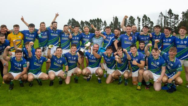Glynn-Barntown with the spoils of success after their victory in the Enniscorthy Farm Systems JFC final in O'Kennedy Park on Saturday