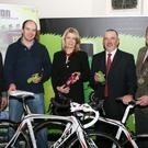 Adrien Fenlon,Cyclist, Stella Sinnott, Cyclist, Tom Clifford, and Keith Doyle, Chair.Town Council.