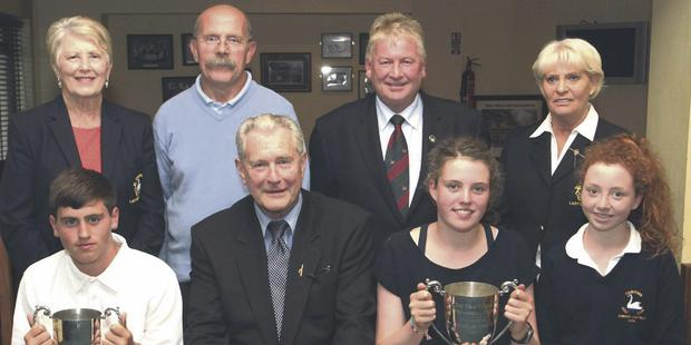 Prizegiving at the Tom Funge Memorial Cup boys and girls' open at Courtown Golf Club