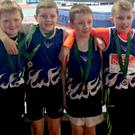 The Bree A.C. Under-12 relay team (from left): Shane Doran, Ryan Whelan, Robbie Chapman, Seán Rowley