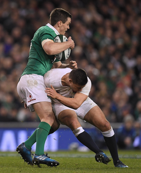 Jonathan Sexton of Ireland is tackled by Ben Youngs of England during last year's RBS Six Nations Championship. A St. Patrick's Day Twickenham showdown between the sides is certainly something to look forward to