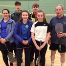 The winning sixth division team from Taghmon in the badminton shield competition