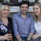 Gillian Doyle, Elliott Malone and Emma Hyland at the races on Wednesday