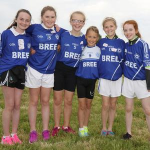 Bree N.S. athletes Holly Dunne-Maher, Claire Whelan, Rachel Murphy, Jayden Kenny, Ciara Byrne and Katie Doyle at the primary schools athletics day in Enniscorthy