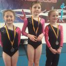 Some of the medal-winning gymnasts