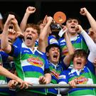 The Gorey celebrations begin after captain Darragh Fitzpatrick lifts the cup