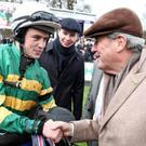 J.J. Slevin with Joseph O'Brien and J.P. McManus