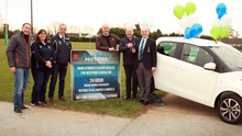 At the Gorey Rugby Club monster car draw launch, with first prize of a Citroen C1 in association with James Tomkins and Citroen were (from left): Eric Hendy, Trish Sullivan (Treasurer), Declan Gibney (Chairman), Dave O'Neill (P.R.O.), James Tomkins (main Citroen and Suzuki dealer), Niall Shattery (President)
