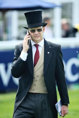 Aidan O'Brien at Royal Ascot in more normal times. This time around he had to be content with watching the action from his home base