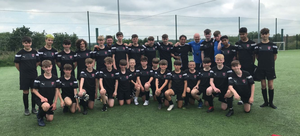 A Wexford Development Centre group with Chesterfield F.C. Academy manager Neil Cluxton