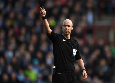 Referee Anthony Taylor trying to hail a taxi on his stag do in Marbella