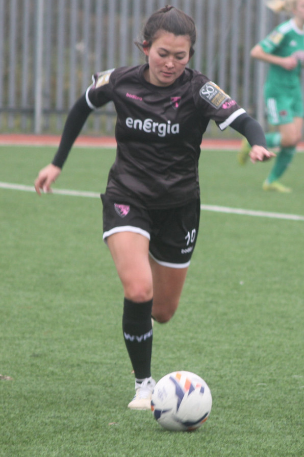 McKenna Davidson on the ball in her last game for the club