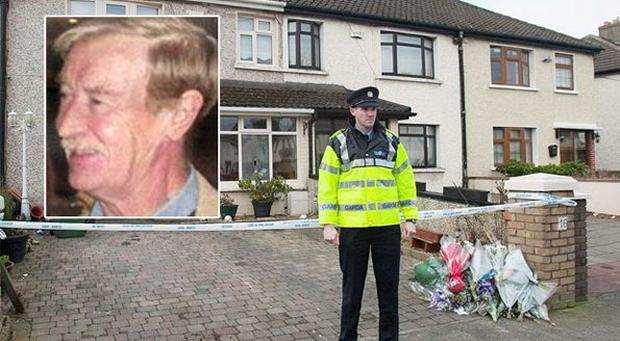 Inset, Mr Nugent and the scene outside his home