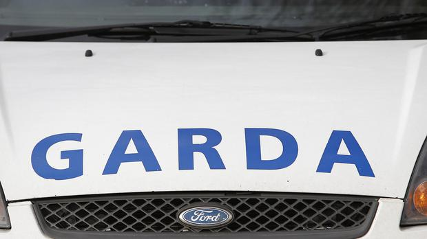 A YOUNG man set fire to a stolen car and ran away from the scene after gardai spotted him in the driver's seat