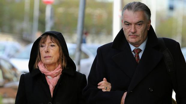 Ian Bailey and Jules Thomas arrive at the High Court in Dublin