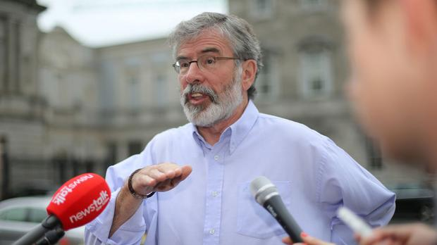Sinn Fein leader Gerry Adams says Israel prevented him visiting Gaza