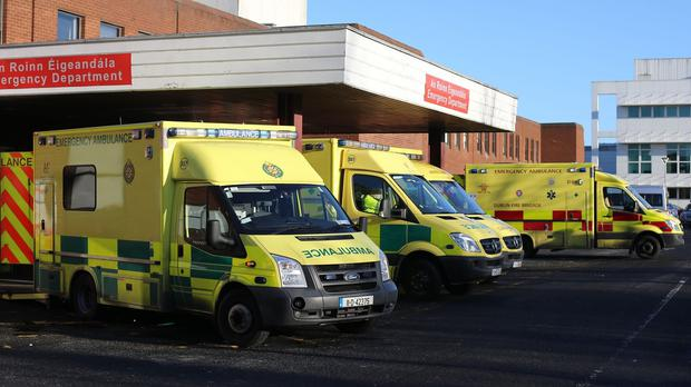 The young man was taken to hospital in Dublin after the incident