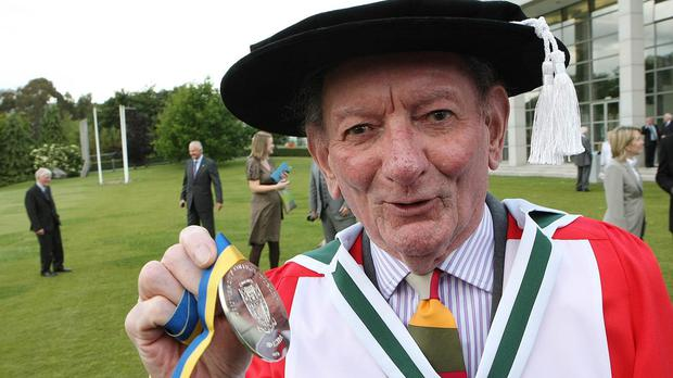 Playwright Brian Friel, pictured in 2009