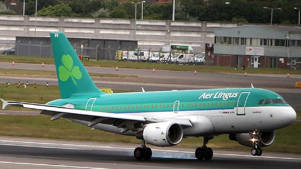 The aircraft was diverted to Cork Airport where it landed at around 5.40pm and was met by airport paramedics and a HSE ambulance