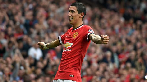 Angel Di Maria, pictured, says he has already clicked with Wayne Rooney and Robin van Persie