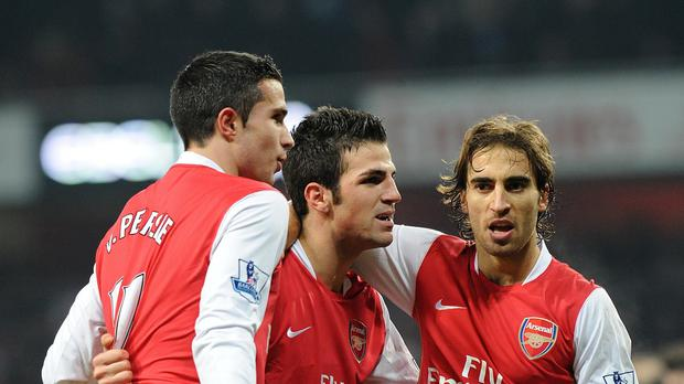Mathieu Flamini, pictured right, remains close friends with his former Arsenal team-mate Cesc Fabregas, centre