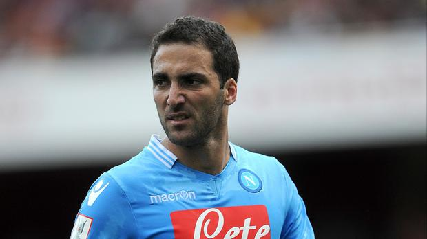 Gonzalo Higuain is under contract with Napoli until June 2018
