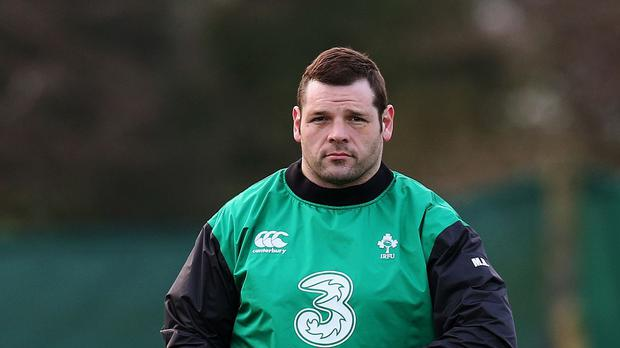 Mike Ross, pictured, expects a fearsome scrum battle with France in Dublin on Saturday